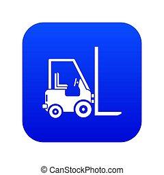 Stacker loader icon digital blue