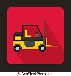 Stacker loader icon in flat style