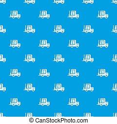 Stacker loader pattern seamless blue