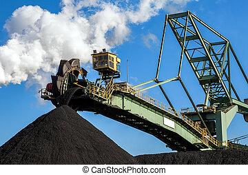 Stacker-reclaimer coal handling industry
