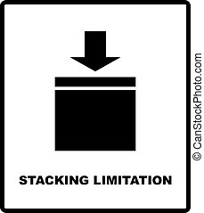 Stacking Limitation by Mass vector packaging symbol on...