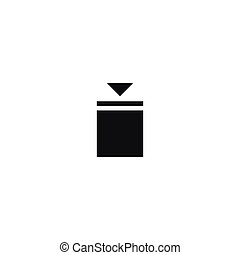 Stacking limitation symbol on white background - Stacking...
