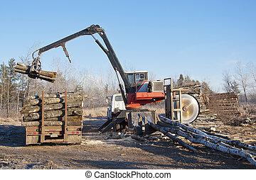 Stacking Logs