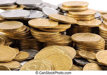 stacks, i, mønter, .