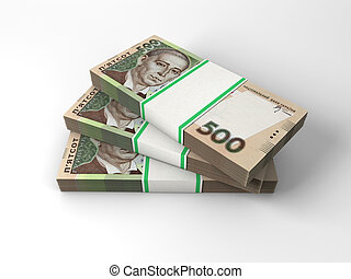 Stacks of banknotes
