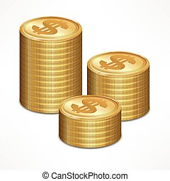 Stacks of coin
