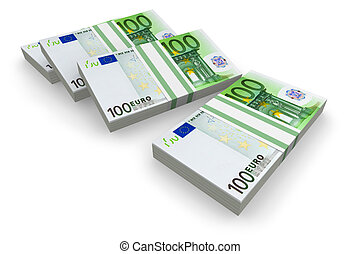 Stacks of euro
