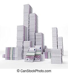 Stacks of euros