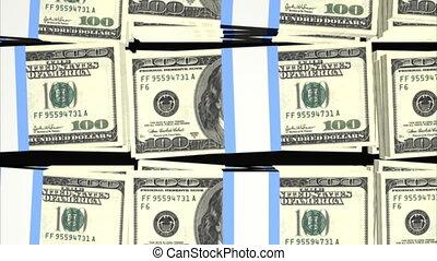 Stacks of Hundred Dollar Bills Loop - Stacks of Hundred...