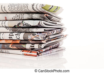 stacks of old newspapers and magazines - old newspapers and ...