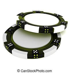 Stacks Of Poker Chips - Stacks of Poker Chips. 3d isolated...