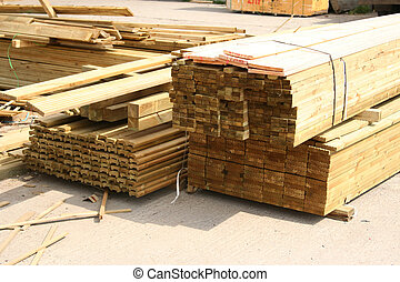 Stacks of sawn wood