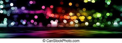 stad, abstract, lichten