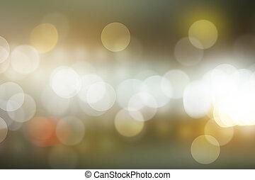stad, abstrakt, bakgrund., bokeh, defocused, natt, filtrera