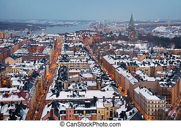 stad, antenn, stockholm, synhåll
