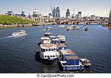 stad, av, london.