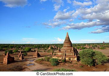 stad, bagan, oud, myanmar