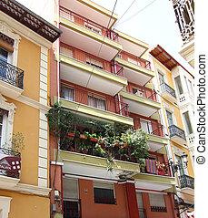 stad, bebyggelse, alicante, spanien, typisk