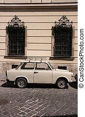stad, bil, gammal, årgång