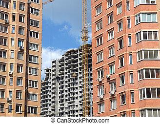 stad, bouw activiteit