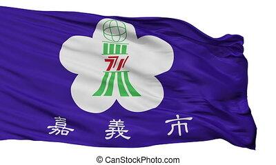 stad, chiayi, china, vrijstaand, vlag
