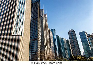 stad, commercieel, centrum
