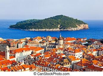 stad, dubrovnik, kroatië, eiland