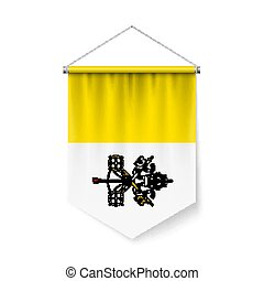 stad, flagga, standert, vatikanen