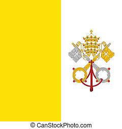 stad, flagga, vatikanen