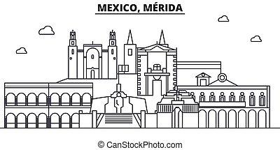 stad, illustration., berömd, slaglängder, linjär, editable, ...
