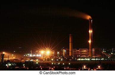 stad, industriell