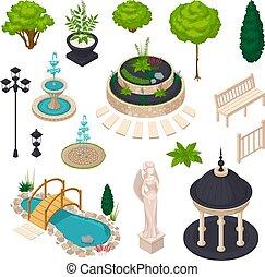 stad, isometric, communie, landscape, constructor