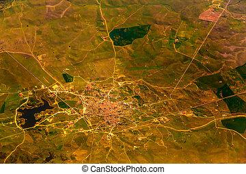 stad, luchtmening