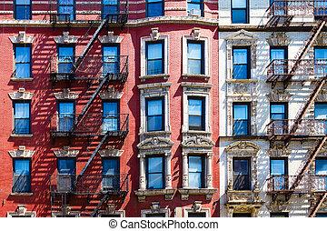 stad, model, textuur, york, achtergrond, nieuw