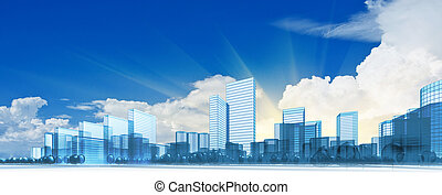 stad, moderne