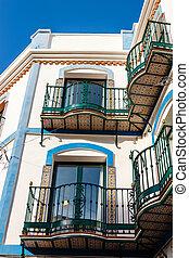 stad, nerja, sol, touristic, andalusia, costa, del, spanje