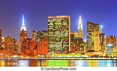 stad, nieuw, usa., york