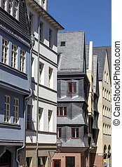 stad, oud, neue, altstadt, reconstructed, frankfurt