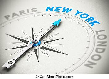 stad, reizen, concept, york, nieuw