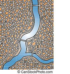 stad, rivier