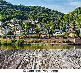 stad, rivier, duitsland, neckar, heidelberg
