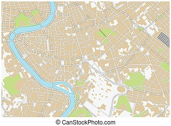 stad, rom, karta