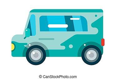 stad, school, station, vervoer, passagier, bus, reizen, vrijstaand, illustratie, aflevering, vector, verkeer, straat, voertuig, vrachtwagen, toerisme, uitstapjes, vervoeren