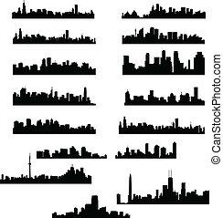 stad, skylines