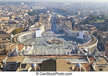stad, straat. plein van de piemel, vatican