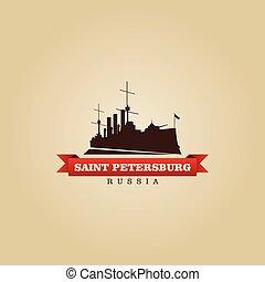 stad, symbool, petersburg, heilige, rusland