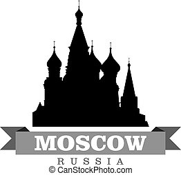 stad, symbool, vector, moskou, rusland