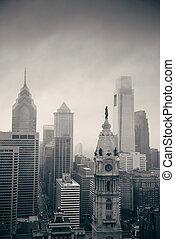 stad, taktopp, philadelphia