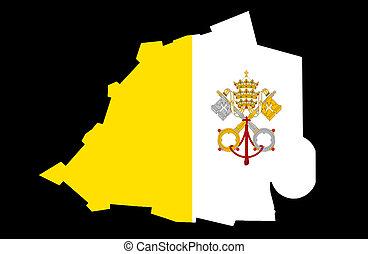 stad, tillstånd, vatikanen