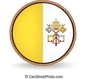 stad, vatikanen, försegla